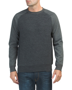 Boiled Sweat Knit Hybrid Crew Sweater