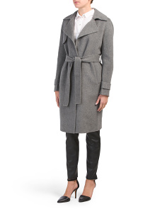 Notch Collar Wool Coat