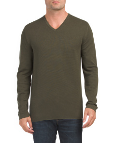 Milano Front V-neck Sweater
