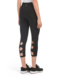 Lattice Back & Side Pocket Capris