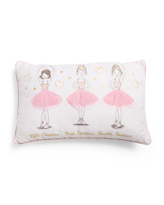 Kids 14x22 First Position Pillow