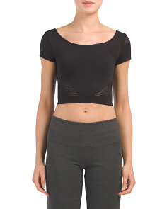 Made In Usa Noho Textured Crop Top