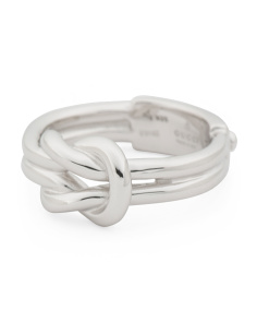 Made In Italy Sterling Silver Piccolo Knot Ring