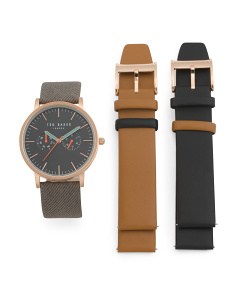 Men's Watch Set With Interchangeable Straps