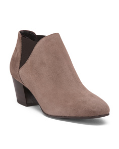 Made In Italy Waterproof Suede Booties