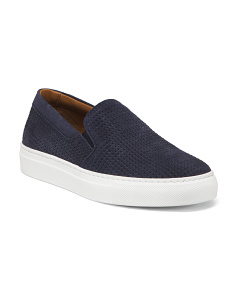 Made In Italy Slip On Suede Sneakers
