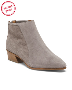 Made In Italy Casual Suede Booties