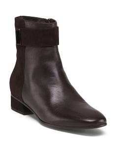 Made In Italy Casual Leather Booties