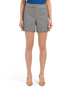 Scalloped Gingham Shorts