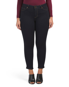 Plus High Waist Basic Skinny Jeans
