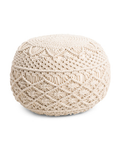 Made In India 20x20 Macrame Pouf