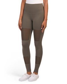 Made In Usa Mesh Panel Leggings