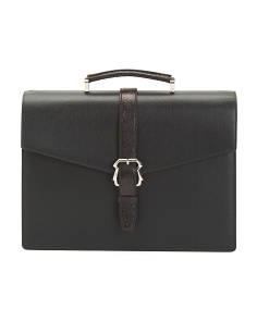 Made In Italy Leather Business Briefcase