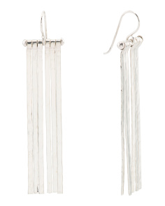 Handmade In Mexico Sterling Silver Fringe Earrings