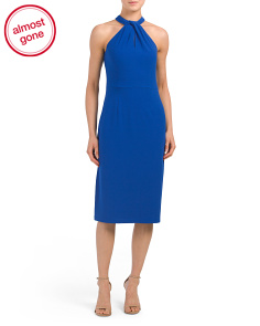 Halter Midi Sheath Dress
