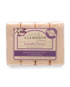 Made In France 4pk Lavender Flowers Bar Soaps