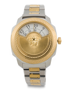 Women's Swiss Made Dylos Icon Two Tone Bracelet Watch