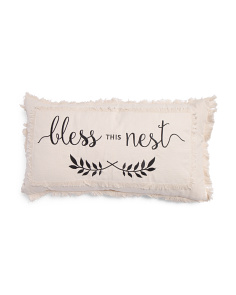 Made In India 14x26 Bless This Nest Pillow