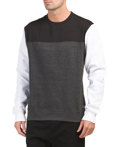 Retro Sport Fleece Crew Neck Top