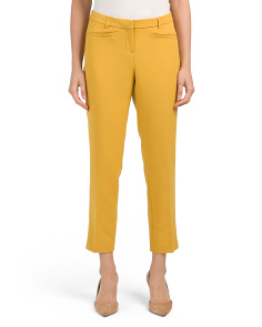 Solid Tricotine Structured Pants