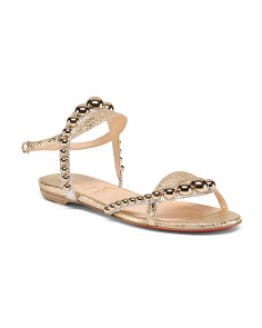 Made In Italy Designer Leather Sandals