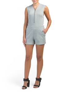 Melange Fleece Romper