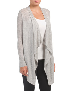 Open Cashmere Blend Cardigan