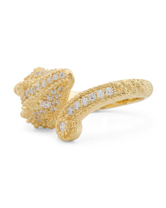 14k Gold Plated Sterling Silver Cz Aries Ring