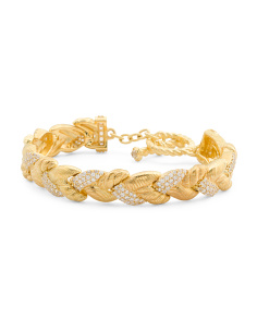 14k Gold Plated Sterling Silver Natural Crystal Bracelet
