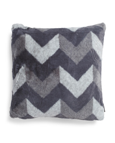 20x20 Ric Rac Faux Fur Pillow