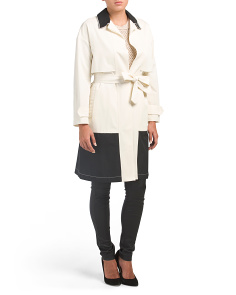 Made In Italy Color Block Lightweight Coat