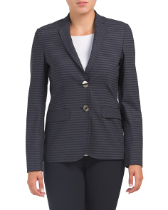 Made In Italy Striped Blazer