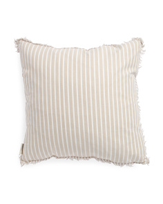 22x22 Gingham With Stripe Back Pillow