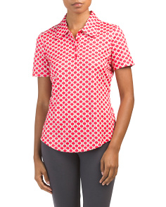 Butterfly Print Golf Polo