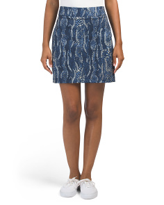 Snakeskin Patterned Golf Skort