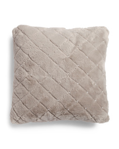 20x20 Faux Fur Textured Pillow
