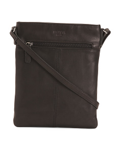 Split Pocket Leather Crossbody