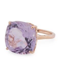 Made In India 14k Rose Gold Pink Amethyst Ring
