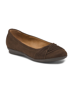Pleated Ballet Flats