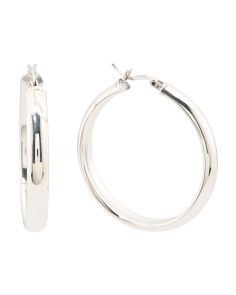 Made In Mexico Sterling Silver Hoop Earrings