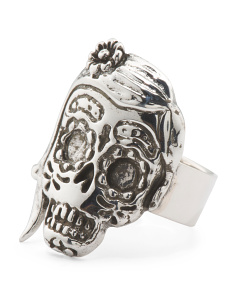 Made In Mexico Sterling Silver Skeleton Ring