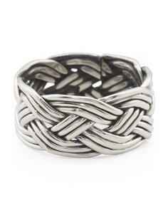 Men's Made In Mexico Sterling Silver Woven Ring