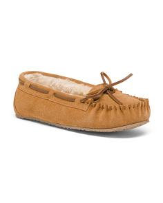 Suede Allie Junior Trapper Moccasins