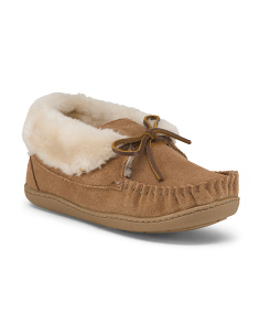 Judy Junior Suede Bootie Slippers