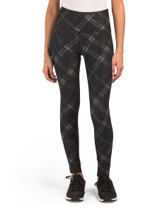Knit London Plaid Print Leggings