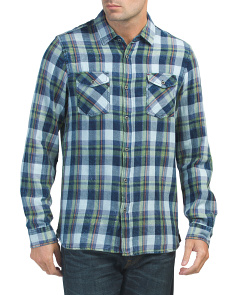 Long Sleeve Brushed Multi Plaid Shirt