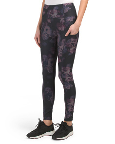 Knit Garden Floral Print Leggings