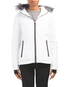 Ripstop Ski Jacket With Faux Fur Hood