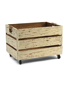 Made In Phillipines Wood Storage Crate