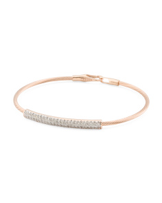 Made In Israel Made In Israel 14k Rose Gold And Diamond Id Bracelet